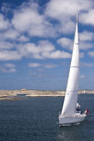 Varend Jacht royalty-vrije stock afbeeldingen