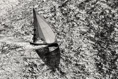 Varend jachtras yachting Varend jacht in het overzees Stock Foto