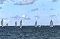 Varend ras op het open water Royalty-vrije Stock Afbeelding