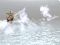 Varend schip Stock Afbeelding