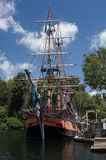 Varend Schip in Disneyland Royalty-vrije Stock Foto's