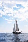 Varend schip op Middellandse Zee Royalty-vrije Stock Fotografie