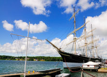 Varend Schip Pommern, Mariehamn, Aland Stock Afbeelding