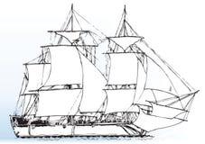 Varend windschip Stock Afbeelding