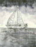Varende boot Stock Afbeelding