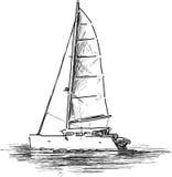 varende boot royalty-vrije illustratie