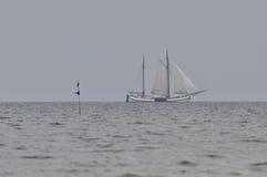 Varende Boot, Royalty-vrije Stock Afbeeldingen