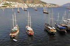 Varende boot in Bodrum Stock Foto