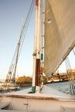 Varende boot op de Nijl Stock Fotografie