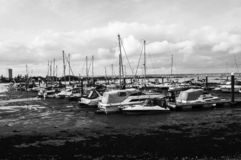 Varende boothaven stock fotografie