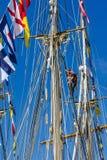 Varende boten royalty-vrije stock foto's