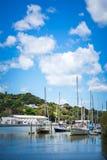 Varende boten in jachthaven van Whangarei, Nieuw Zeeland royalty-vrije stock afbeeldingen