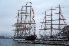 Varende schepen 2 Royalty-vrije Stock Afbeeldingen