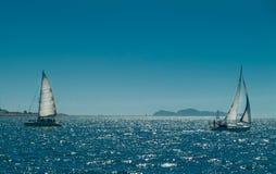 Varende schepen stock afbeeldingen