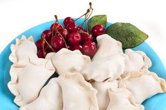 Vareniki with cherries. Stock Photo