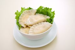 Vareniks .dumplings Royalty Free Stock Photography