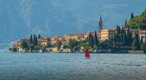 The beautiful Varenna in a sunny day, Lake Como, Lombardy, Italy. stock images