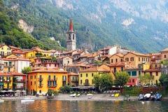 Varenna, Como jezioro, Włochy Zdjęcie Royalty Free
