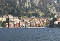 Varenna - Como lake. Colorful houses in como lake in Varenna - Italy Stock Photography