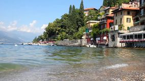 Varenna and the Como lake, Italy. Varenna and the Como lake, north of Italy stock video