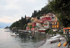Varenna embankment Royalty Free Stock Photos
