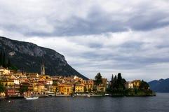 Varenna en el lago Como en Italia Imagen de archivo