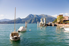 Varenna harbour, Como Lake, Italy Stock Photo