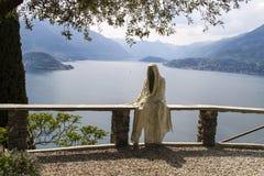 Varenna Italië van Casteldi vezio Stock Fotografie