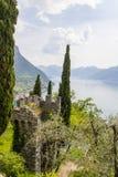 Varenna Italia de Castel di vezio Fotografía de archivo libre de regalías