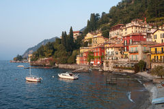 Varenna, Italy. The beautiful ancient fishing village of Varenna, Italy on Lake Como in northern Italy stock photo