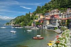 Small harbor in Varenna, Italy Stock Photography