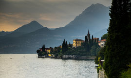 Varenna on lago Como sunset Stock Image