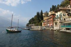 Varenna (Lake Como). Village of Varenna (lake Como, Italy) as seen from the lake Royalty Free Stock Photos