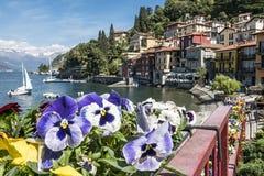 Varenna ( Lake Como ). A view of Varenna Lake Como Stock Photos