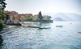 Varenna miasteczko na Como jeziorze Zdjęcia Stock