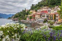 Varenna på Comos sjön - Italien Fotografering för Bildbyråer