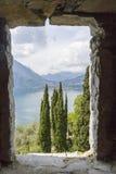 Varenna sjö av comoen Italien Royaltyfri Bild