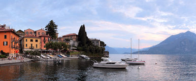 Varenna sunset Stock Photography