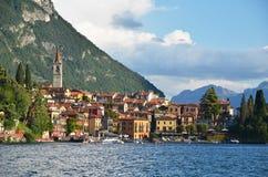 Varenna town at lake Como Stock Images