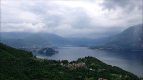 Varenna und See Como in Italien stock video