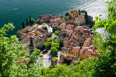 Varenna view. View from the top of Varenna, town on Como's lake Royalty Free Stock Photo