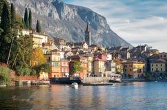 Varenna w Jeziornym Como, Włochy Zdjęcie Stock