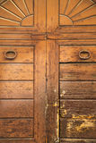 Varese abstract  rusty   wood door vedano olona italy Stock Images