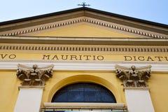Varese  church vedano olona italy the old wall terrace church Stock Photo