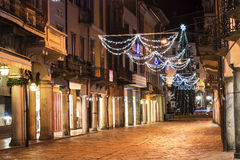 Varese, Corso Matteotti night photography Stock Photo