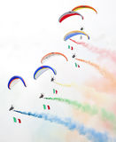 VARESE, ITA - MAY 14 - Team Paramotoristi Stock Photo