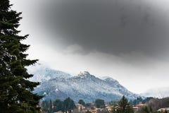 Varese, Italië: panorama van Sacro Monte van Varese ook geroepen Santa Maria del Monte Royalty-vrije Stock Afbeelding