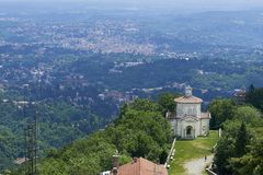 Varese, Italy - June 04, 2017: Sacred Mount of Varese or The Sacro Monte di Varese is one of the nine sacri monti in regions of Lo Royalty Free Stock Image