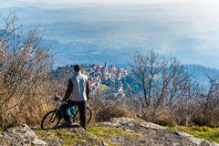 Varese, Italy: panorama of the small village Sacro Monte Royalty Free Stock Photography