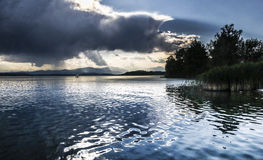 Varese lake, landscape from Schiranna Royalty Free Stock Photography